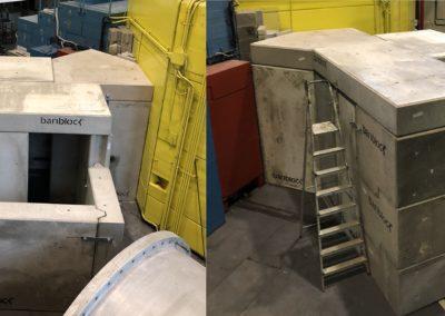 Bariblock per la schermatura del canale del reattore nucleare TRIGA MARK II